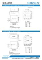 URB_YMD-20WR3 series are isolated 20W DC-DC products with 4:1 input voltage. - 6