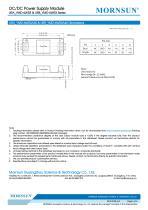 "URB_YMD-6WR3 / 4:1 / 1""*1"" /6 watt / dc dc converter - 6"
