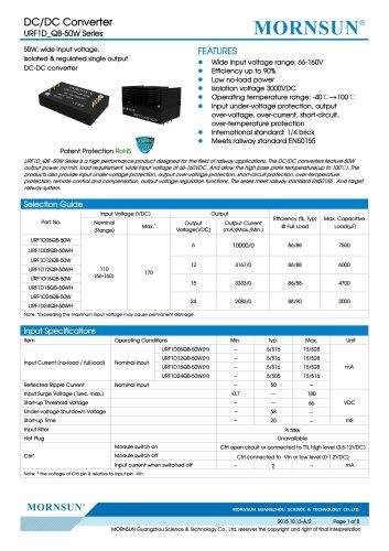 URF1D_QB-50W  Meets railway standard EN50155