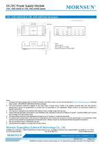"VRA_YMD-6WR3 / 2:1 / 1""*1"" /6 watt dc dc converter - 6"