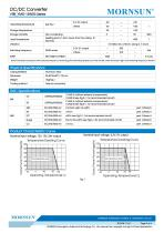 VRB_YMD-15WR3 series are isolated 15W DC-DC products with 2:1 input voltage - 3