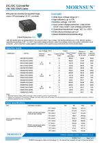 VRB_YMD-20WR3 series are isolated 20W DC-DC products with 2:1 input voltage - 1