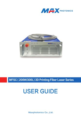 200W-300L 3D Printing Fiber Laser V1.0