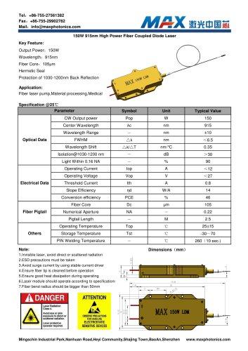 Maxphotonics150W915nmfibercoupledSemiconductorlasermodule