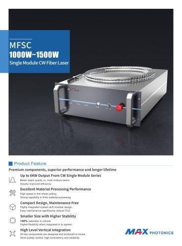 MFSC 1000W~1500W Single Module CW Fiber Laser
