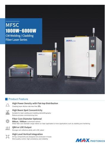 MFSC 1000W-6000W CW Welding / Cladding Fiber Laser Series