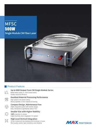 MFSC 500W Single Module CW Fiber Laser