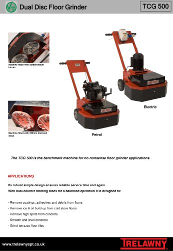 Floor grinder TCG500
