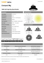 150W LED High Bay Specification - 1