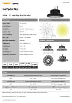 200W LED High Bay Specification - 1