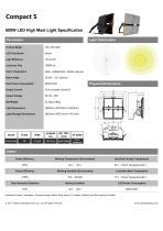 Compact S LED flood light fixture| 600W led flood light specification - 1