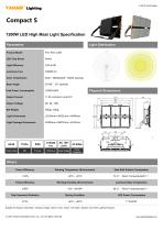 Compact S LED high mast light fixture| 1200W led flood light specification - 1