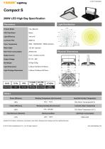 LED High Bay Specification| YAHAM Compact S-U 200W LED High Bay Specification