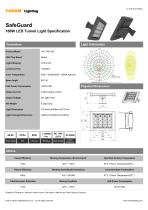 Tunnel Light Specification| SafeGuard 160W LED Tunnel Light Specification - 1