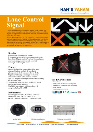 YAHAM LANE CONTROL SIGNS CATALOGUE