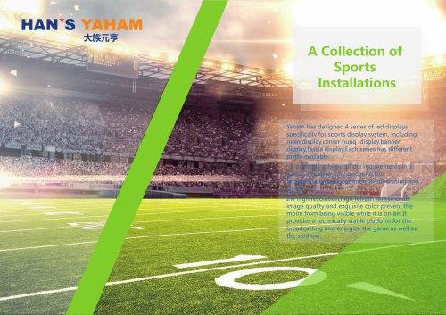 YAHAM led display for A Collection of  Sports  Installations catalogue