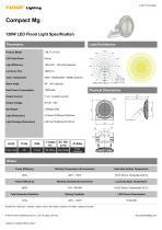 YAHAM Lighting 120W Mg FL10 Compact Mg  Flood Light Specification