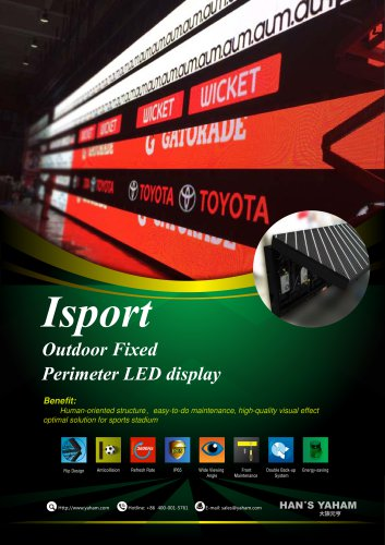 YAHAM Outdoor Fixed Perimeter LED display catalogue
