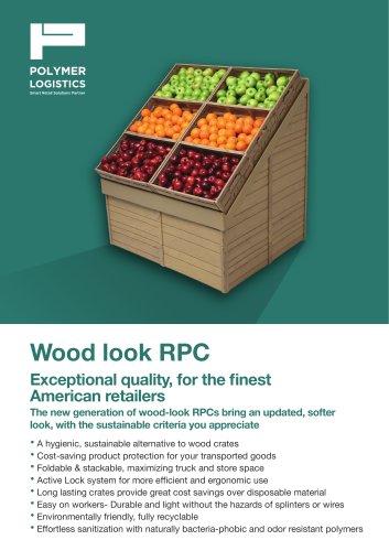 Wood look RPC