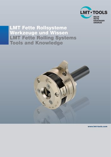 Catalogue Rolling Systems LMT Tools