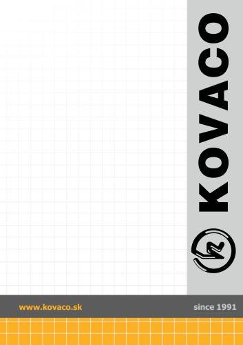GENERAL KOVACO CATALOGUE