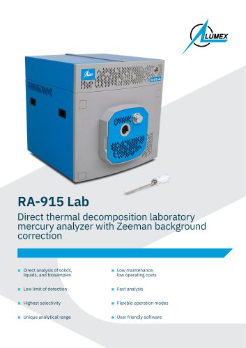 Direct thermal decomposition laboratory mercury analyzer RA-915 Lab