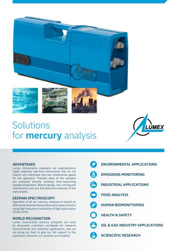 Solutions for mercury analysis