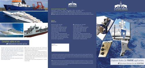 Elephant Brakes for Marine applications