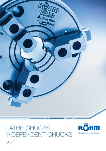 LATHE CHUCKS - INDEPENDENT CHUCKS Catalogue 2017