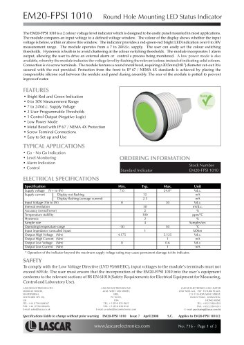panel-mount LED indicator