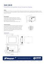 SGD 28-M, PanelPilot Compatible Smart Graphics Display - 3