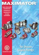 MAXIMATOR High Pressure Pumps