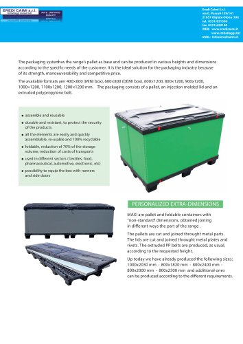 Durable Pallets and Boxes