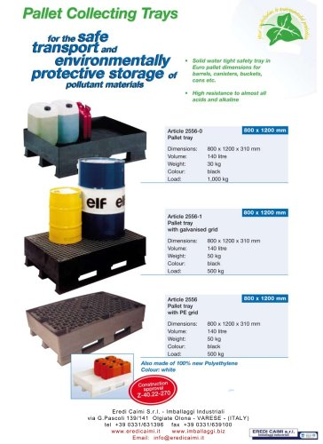 tray pallets container