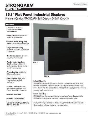 "15.1"" Flat Panel Industrial Displays"