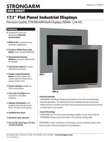 "17.1"" Flat Panel Industrial Displays"