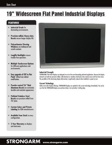 """19"""" Widescreen Flat Panel Industrial Displays"""