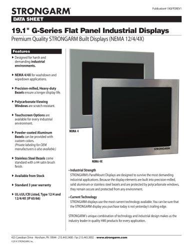 """19.1"""" G-Series Flat Panel Industrial Displays"""