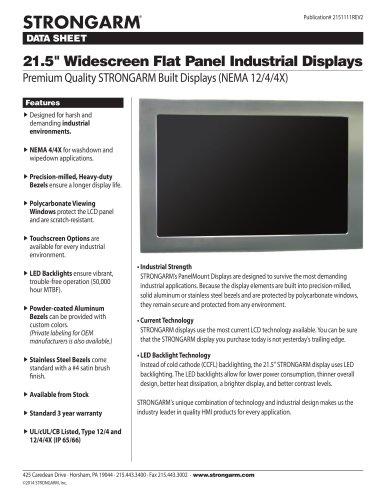 """21.5"""" Widescreen Flat Panel Industrial Displays"""