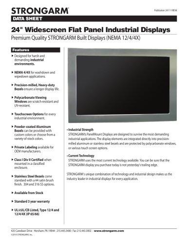 """24"""" Widescreen Flat Panel Industrial Displays"""