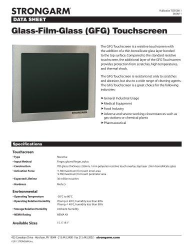 Glass-Film-Glass (GFG) Touchscreen
