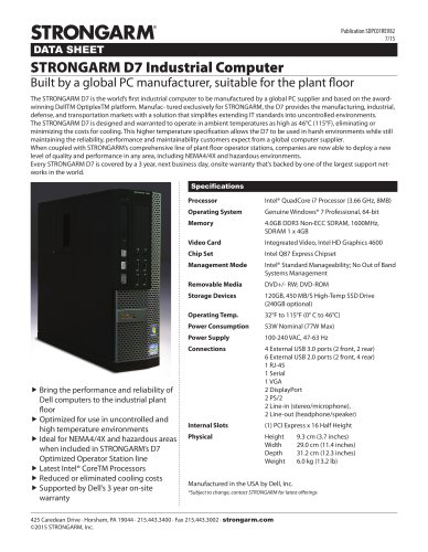 STRONGARM D7 Industrial Computer