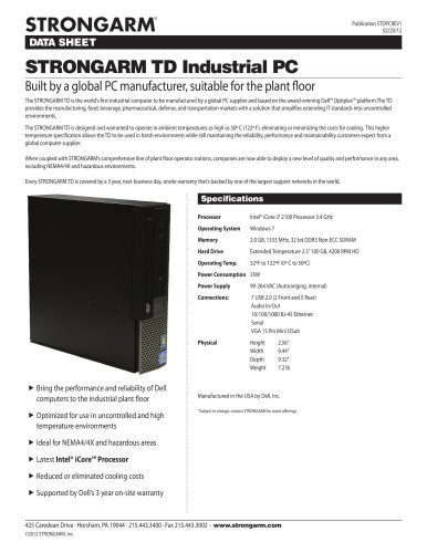 STRONGARM TD Industrial PC