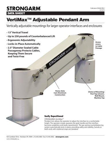VertiMax? Adjustable Pendant Arm