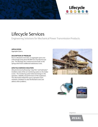 Lifecycle Services Engineering Solutions for Mechanical Power Transmission Products