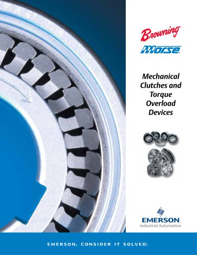Morse Mechanical Clutches and Torque Overload Catalog