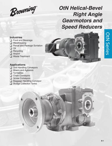 OtN Helical-Bevel Right Angle Gearmotors and Speed Reducers