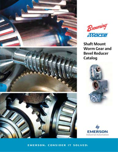 Shaft Mount Worm Gear and Bevel Reducer Catalog