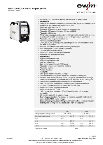 Tetrix 230 AC/DC Smart 2.0