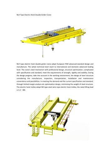 NLH Type Electric Hoist Double Girder Crane
